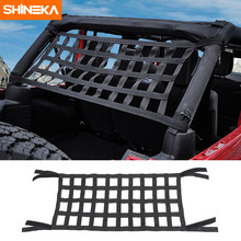 SHINEKA Top Roof Hammock Waterproof Cover Rest Storage Network For Jeep Wrangler TJ JK JKU JL 1997-2019 Exterior Accessories(China)