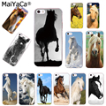 MaiYaCa caballo animal diseño transparente TPU suave cubierta protectora del teléfono celular para iPhone x xs x max xr 5S 6 s 7 8 plus caso