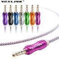 VOXLINK 3.5mm jack cabo de áudio 3.5mm macho para macho cabo de extensão carro aux cabo de 1 m de fio de nylon colorido fone de ouvido batidas AUX cabo