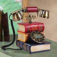 Шт. Англия Ретро Античная Поддельные Книга Творческий винтажный телефон бытовой поворотный циферблат фиксированной стационарный AP5141035