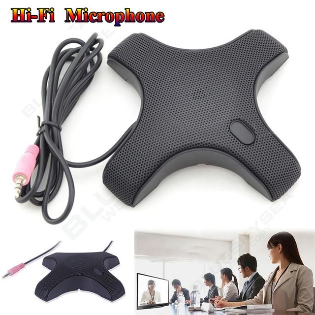 ¡Envío Gratis! Conector de Audio de 3,5mm Hi-Fi condensador de auriculares micrófono de conferencia omnidireccional micrófono para teleconferencia de escritorio