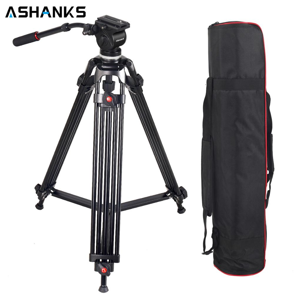 ASHANKS JY0508 0508A trépied professionnel pour appareil photo trépied en aluminium support DSLR tête fluide amortissement trépieds pour la prise de vue vidéo
