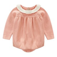 Spring Autumn Newborn Baby Girl Clothes Knitting Long Sleeve Infant Girl Clothing Jumpsuit Outfits Baby Rompers baby clothes