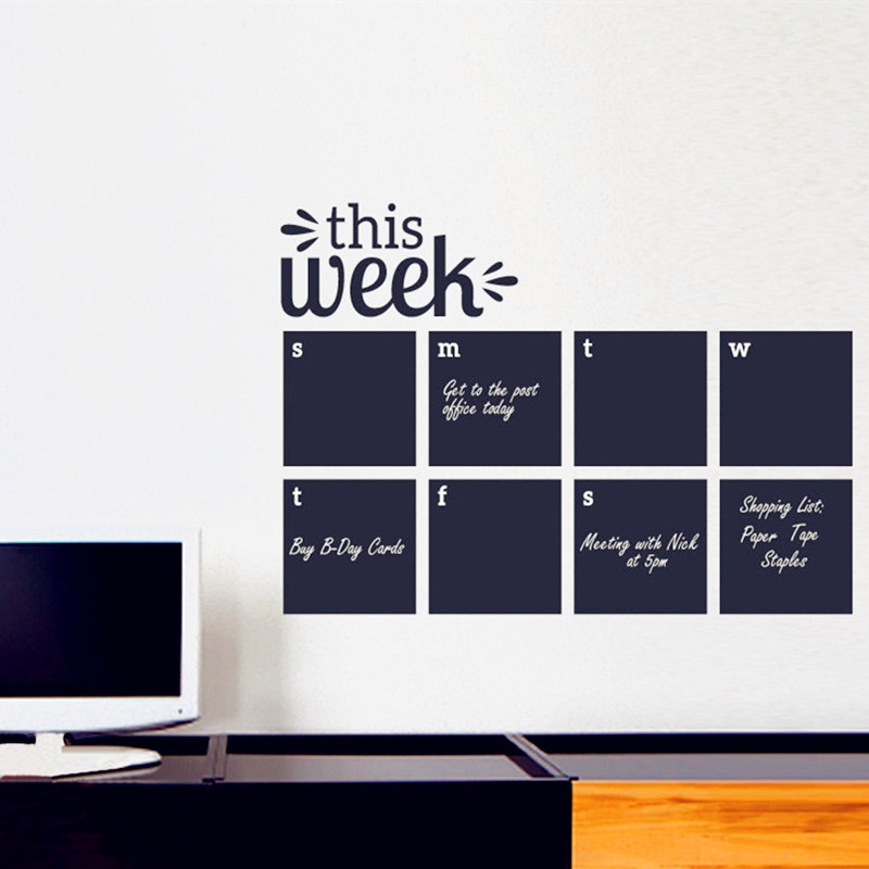 Weekly Wall Planner Calendar Wall Decal Chalkboard Decals - Wall decals 2016