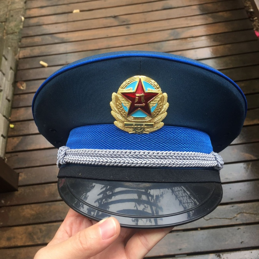 China PLA M05 AIR Force Officer Visor Cap Russia Ussr soviet Union medal  order Militrary size 31895f58e6ff