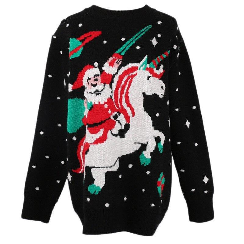 Ugly Christmas Sweater Cartoon.Gruiiceen 2018 Winter New Designer Ugly Christmas Sweater