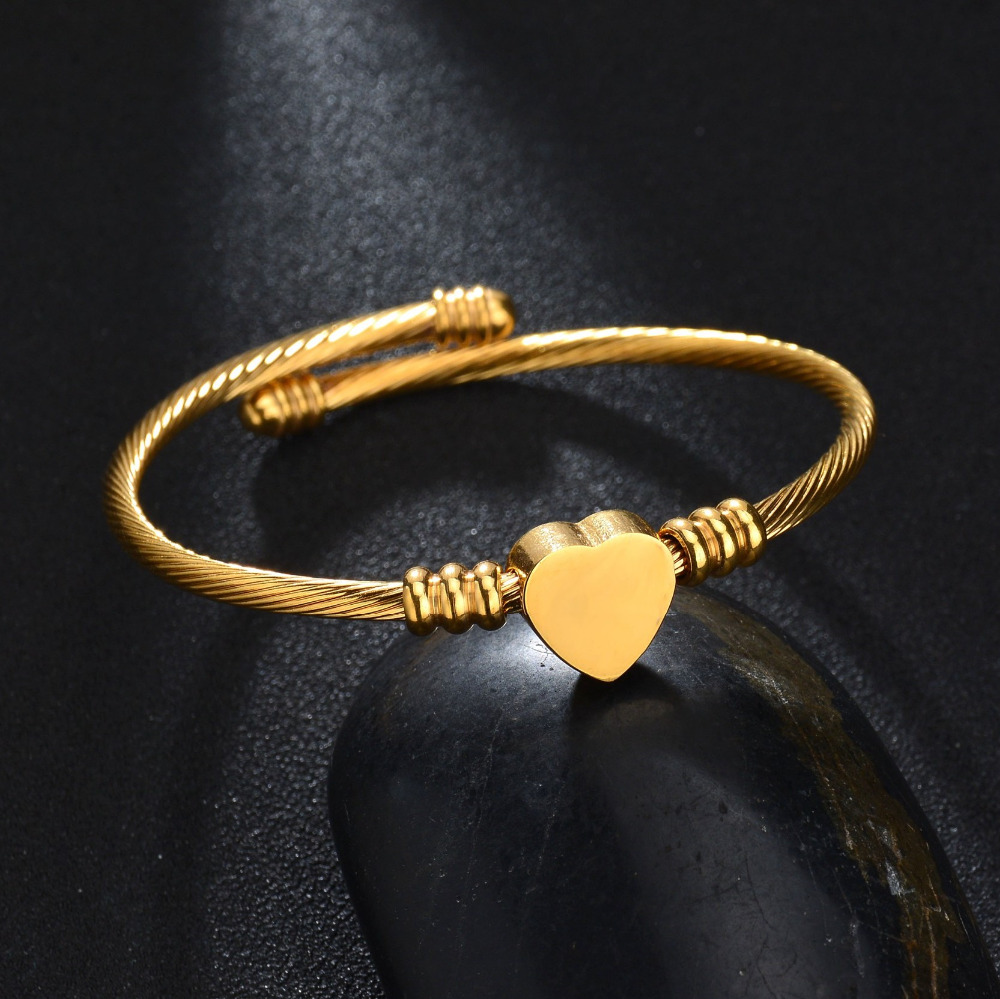 circles bracelet bangles bangle with gold charm