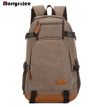 2020 Men's Backpack Male Canvas Laptop Backpack Computer Bags high school studen