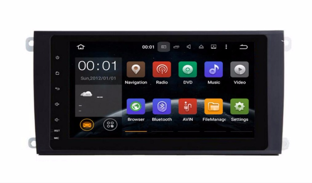 2 Din Android 8.0 RAM 4G Car GPS for Porsche Cayenne radio Navigation multimedia screen stereo AUDIO NO DVD player /Android 7.1