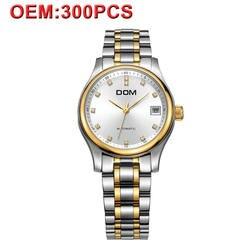 DOM механические мужские часы люксовый бренд водостойкие наручные часы из нержавеющей стали мужские золотые деловые часы высокого качества