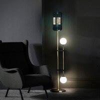 Pós moderna conduziu a iluminação da sala de estar em pé nordic hotel deco piso luzes casa luxo cobre luminárias quarto lâmpadas Luminárias de pé     -