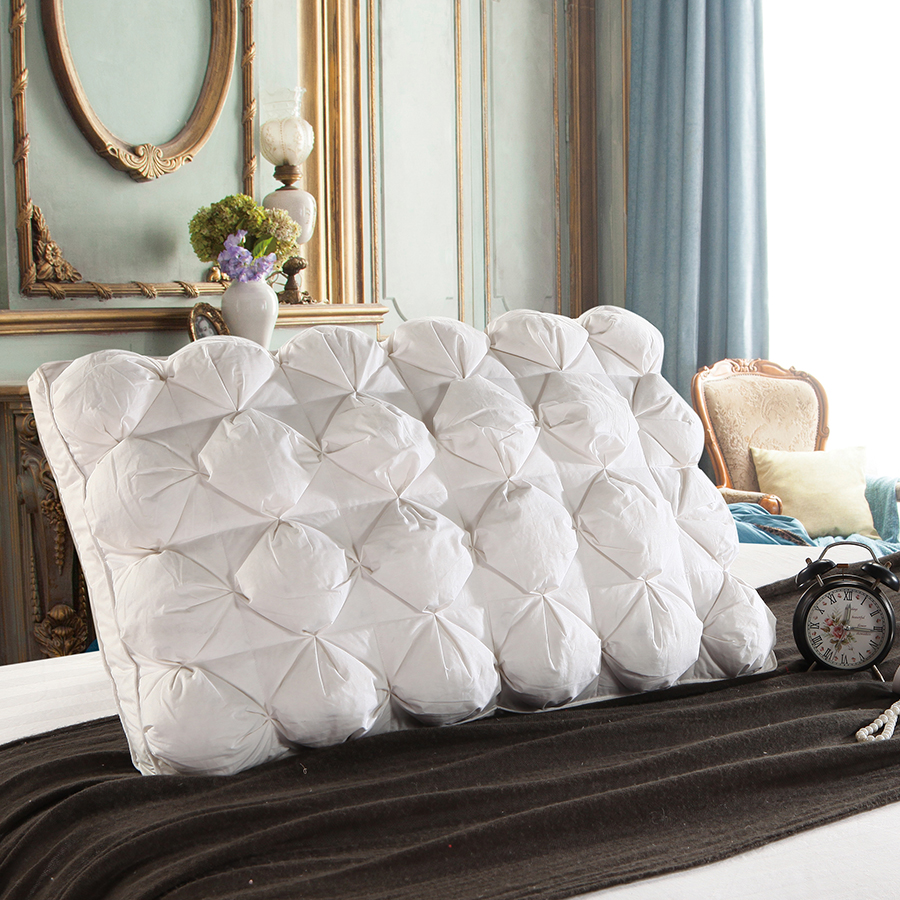 Peter Khanun 48*74cm Luxury 3D Style Rectangle White Goose/Duck Feather Down Pillows Down-proof 100% Cotton Bedding Pillow 063
