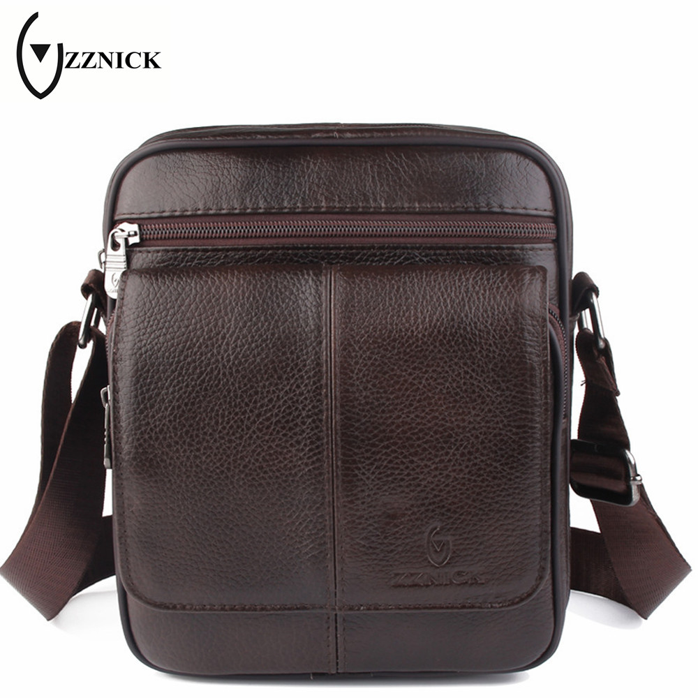 ZZNICK 2017 Top Male Bag Genuine Leather Fashion Men's Messenger Bags Men Casual Crossbody Shoulder Bag Man Travel Bag Handbags zznick genuine leather bag top handle men bags shoulder crossbody bags messenger small flap casual handbags male leather bag new