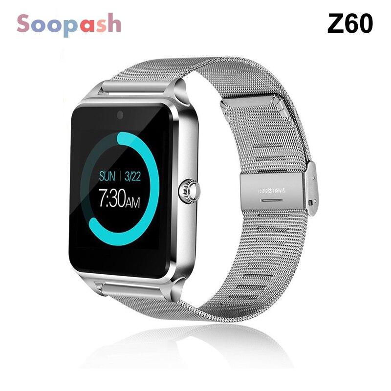 Reloj inteligente Z60 GT09 hombres mujeres Bluetooth de muñeca, reloj soporte SIM/TF Tarjeta de reloj para Apple teléfono Android PK DZ09