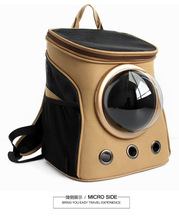 New Fashion Canvas Pet Space Capsule Shaped Carrier Breathable Backpack Dog Outside Travel Bag Portable Cat Bags CL245