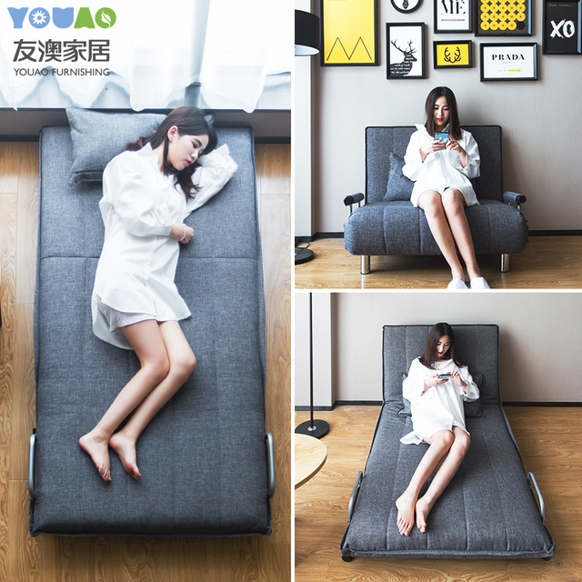 US $332.1 19% OFF|58cm Folding Floor Sofa Bed Single Person Office Adult  Nap Simple Sleeper Sofa Bed Modern Couch Chair Bed For Living Room-in  Living ...