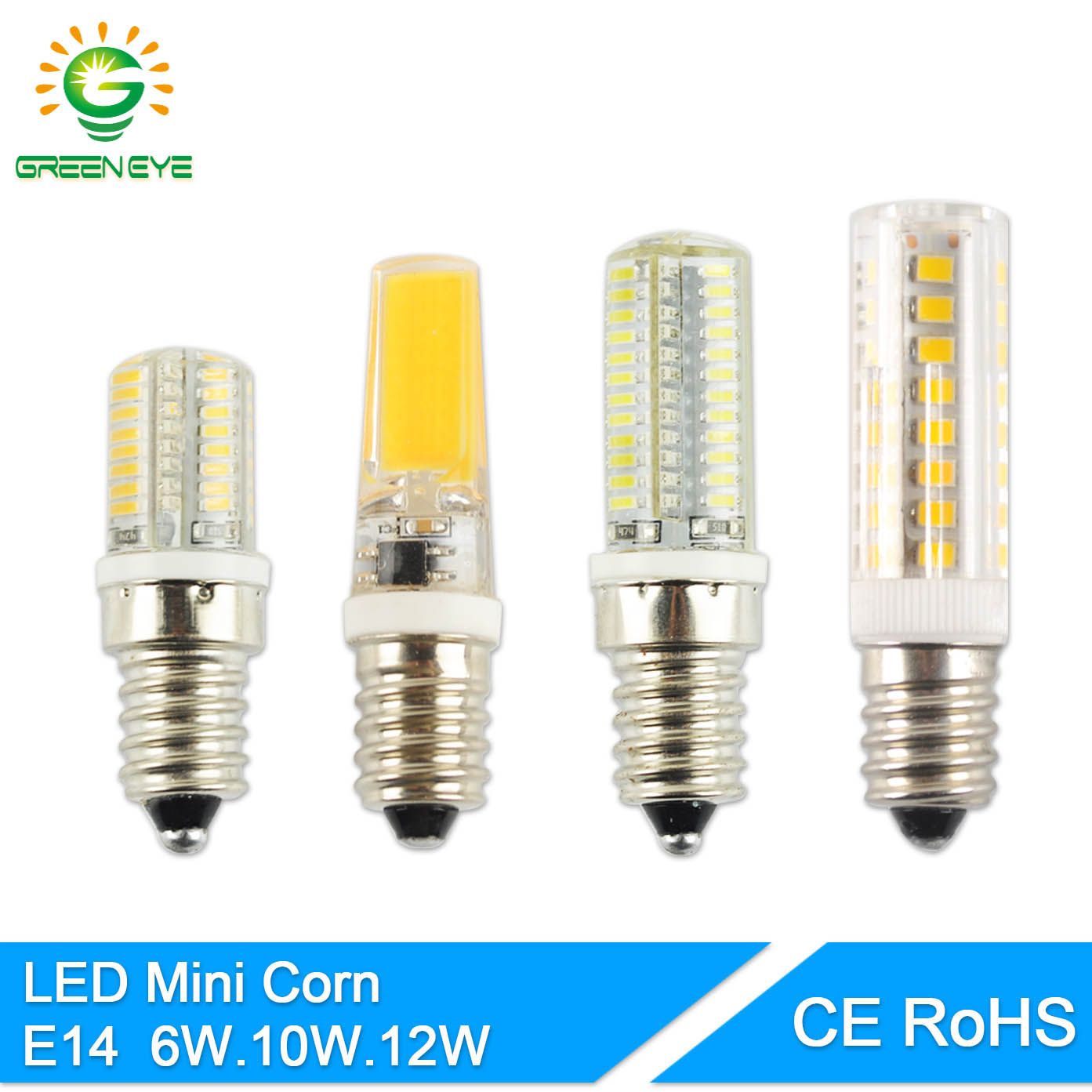 greeneye mini led e14 lamp bulb 220v 6w 10w 12w cob lighting lights replace halogen spotlight. Black Bedroom Furniture Sets. Home Design Ideas