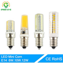 GreenEye Mini LED E14 Lamp Bulb 220V 6W 10W 12W COB Lighting Lights Replace Halogen Spotlight Chandelier Lampada Ampoule Lampara