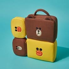 Korean bear cartoon Cosmetic Bag Set Women Travel Cute Makeu