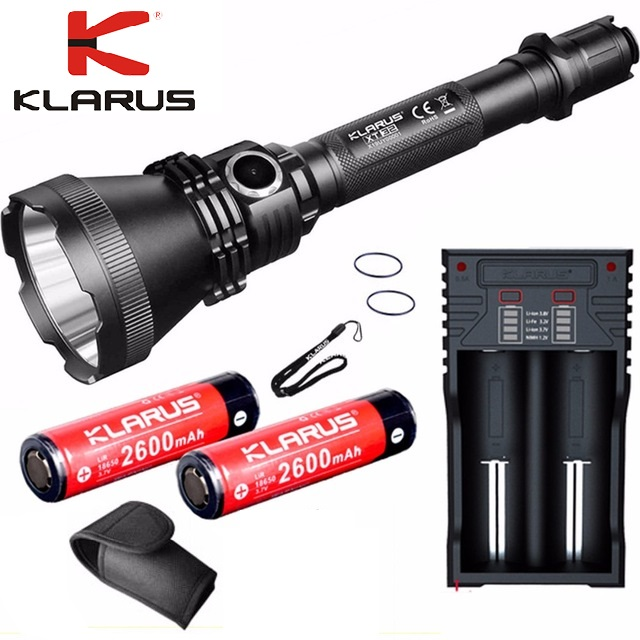 KLARUS XT32 CREE XP-L SALUT V3 LED lampe de Poche 1200lm max faisceau distance jusqu'à 1000 mètres avec batterie et chargeur