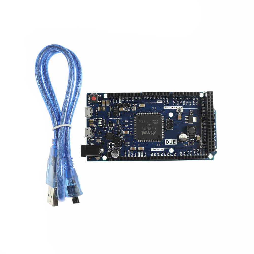 5pcs KJ292 DUE 2012 R3 Board AT91SAM3X8E ARM 32 Bit for Arduino with Data Cable Set