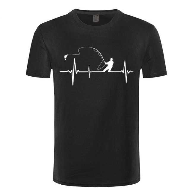 Birthday Gifts For Dad Him Father Fishinger Heartbeat Funny   T     Shirt   Fish Accessories Present Custom   T  -  Shirt   For Men Fisherman