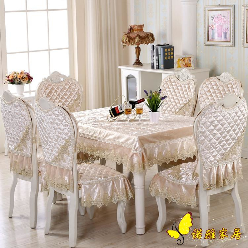 Hot Sale Round Dining Table Cloth Chair Covers Cushion Tables And Chairs Bundle Cover Rustic