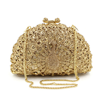 Luxury Clutch Bag With Colorful Diamonds