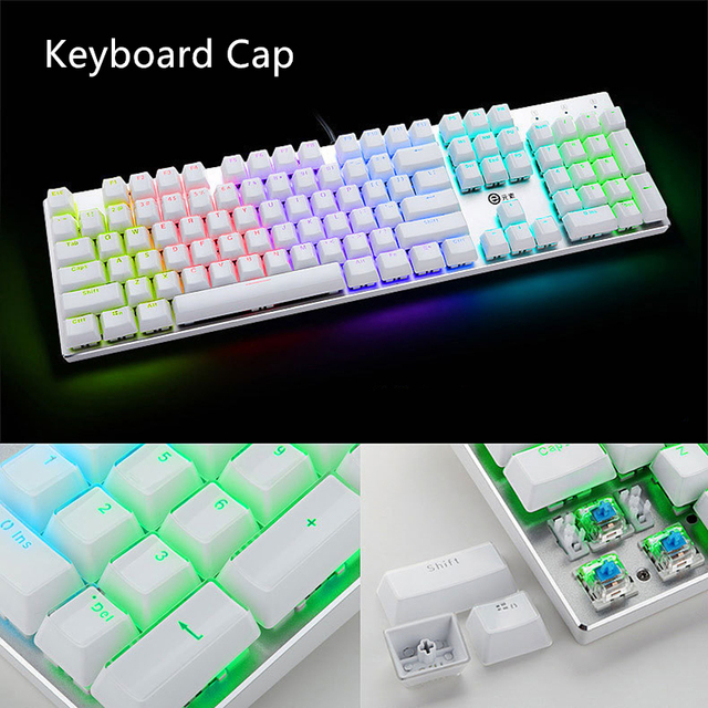 US $18 5 |DIY Gamer gaming keyboard caps Crystal keycap 104 standard key  combination mechanical keyboard keycap For Razer Keyboard-in Keyboards from
