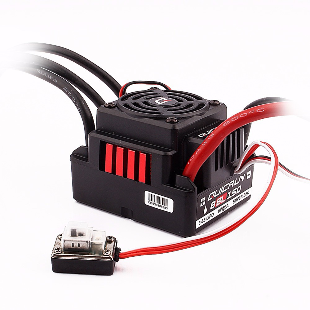 Original Hobbywing Quicrun 8BL150 Brushless Waterproof Sensorless 150A ESC with LED Program Box Rock Crawler ESC For 1/8 Rc CarOriginal Hobbywing Quicrun 8BL150 Brushless Waterproof Sensorless 150A ESC with LED Program Box Rock Crawler ESC For 1/8 Rc Car