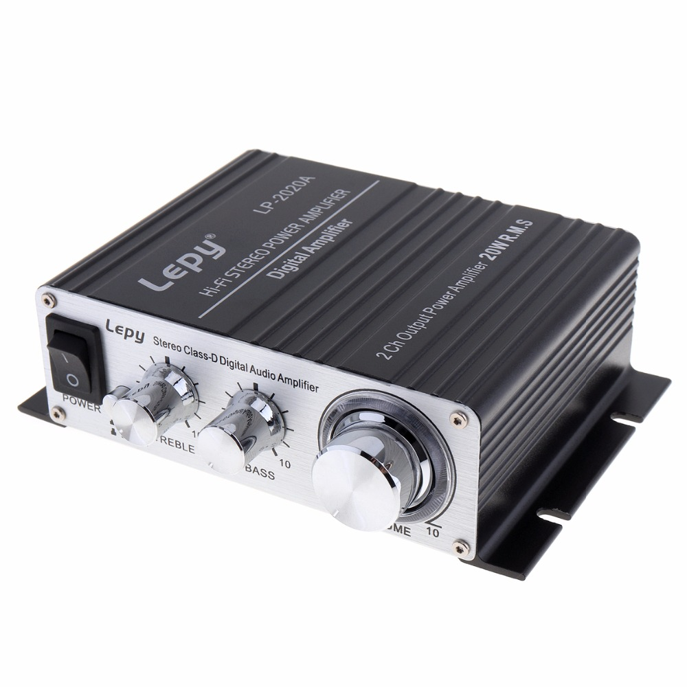 LEPY LP-2020A 20W x 2 2CH Stereo Class-D Digital Audio Amplifier Hi-Fi Stereo Power Car Amplifier with Over-current Protection stereo audio amplifier 2 x 40w