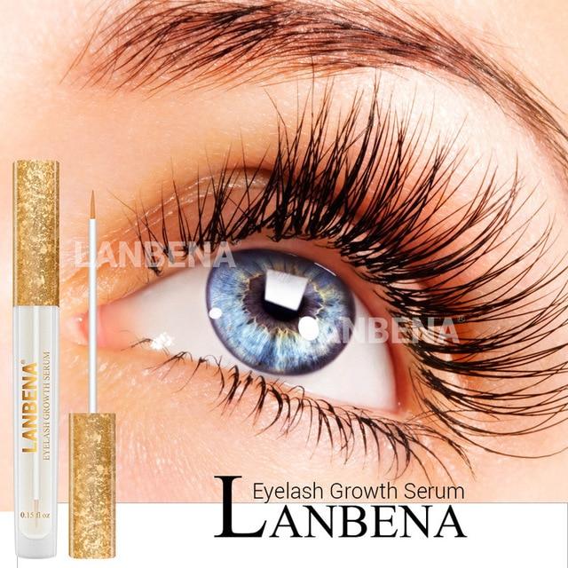 LANBENA aumento de suero de crecimiento de pestañas más gruesas cuidado de los ojos Unisex