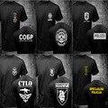 Mens Camisetas Russo Spetsnaz ATJ LUCKO Francês GIPN GIGN Marinha Nepal CTLO RGR EKO COBRA Áustria Das Forças Especiais Da Polícia T camisas