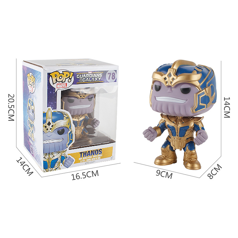 Funko POP The Marvel Guardians of the Galaxy 2 THANOS brinquedos Collection PVC Action Figure toys for children birthday GiftFunko POP The Marvel Guardians of the Galaxy 2 THANOS brinquedos Collection PVC Action Figure toys for children birthday Gift