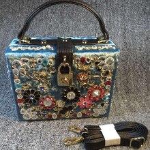 Luxus Designer Strass Samt Mini-handdrehverschluss Schmuck Gold Kupplung Fall Abendgesellschaft Kosmetik Schultertasche Crossbody