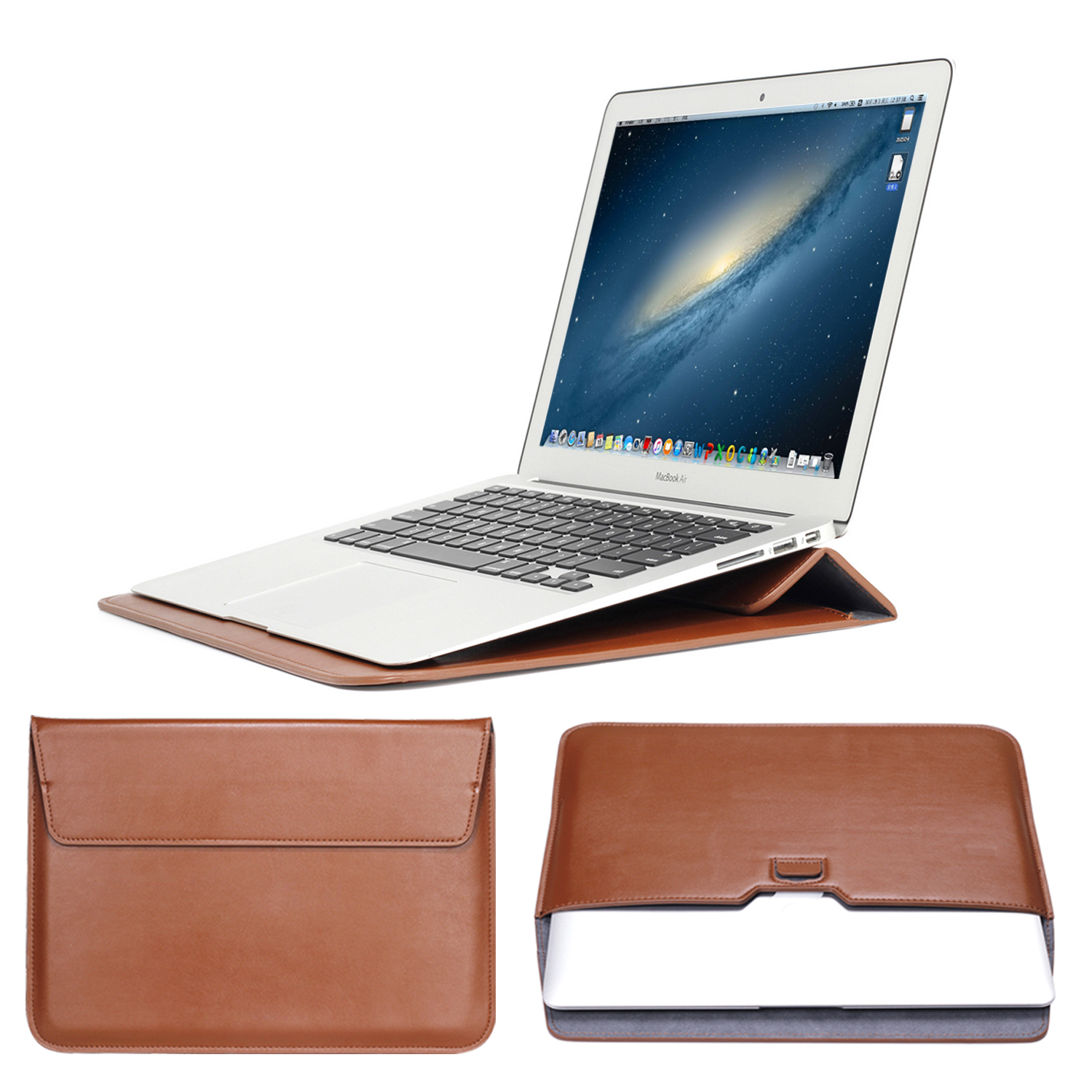 PU Leather Mail sack Sleeve Bag Case Stand For Macbook Air Pro Retina 11 12 13 15 Notebook Laptop Cover For Mac book 13.3 inch retro envelope leather laptop bag for macbook pro 13 15 retina for mac book air 11 13 inch notebook case handbag for men women