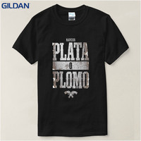 2017 Summer New Brand Clothing Plata O Plomo Narcos Pablo Escobar Silver Or Lead T Shirt