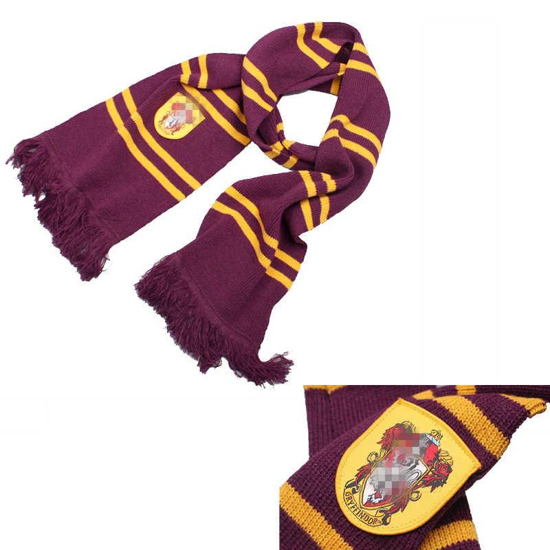 ยาว 180 ซม.หนา Harry Series ผ้าพันคอ Hogwart นักเรียนคอสเพลย์สี่บ้านผ้าพันคอหลักสูตรในต่างประเทศ PARTY PROP