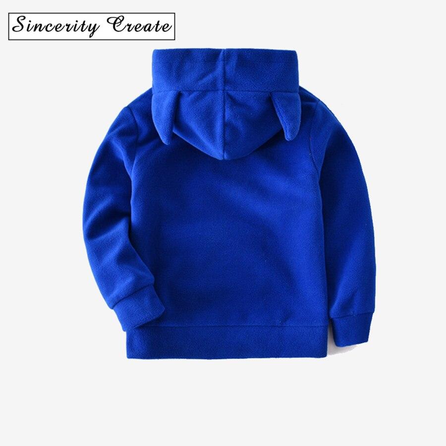 Повседневное Характер Мальчики Девочки Флисовые толстовки с капюшоном 4Y, 6Y, 8,10, 12Y Демисезонная куртка для верхняя одежда для мальчиков и де...
