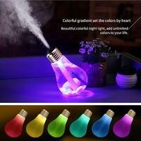 400ML Kreative Flasche birne Mini Usb-luftbefeuchter Ultraschall Aroma Ätherisches Öl Diffusor mit 7 Farbe LED Zyklus Licht für hause