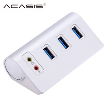 Portable USB 3 HUB 3.0 Ports with External Stereo Sound audio port Adapter Splitter USB3.0 USB3 USB-HUB Hab for earphone
