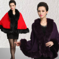 New Women's Loose Shawl Cloak Cardigan Sweater Wrap Cape Faux Fur Cloak Coat