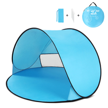 Oudoor Ultralight Camping Tent Instant Pop Up Tent Baby Beach Tent Camping Hiking Tent Anti Uv Sun Shelter For Fishing Hiking цена
