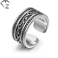 Open Size Solid S925 Thai Silver Ring 100 Real 925 Sterling Silver Rings For Men Women