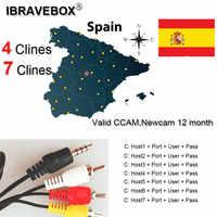 CCCam válida 12 mes estoy España Portugal Newccam 7 Clines para Freesat V8 Super DVB-S2 receptor de satélite V7HD V8 Finder