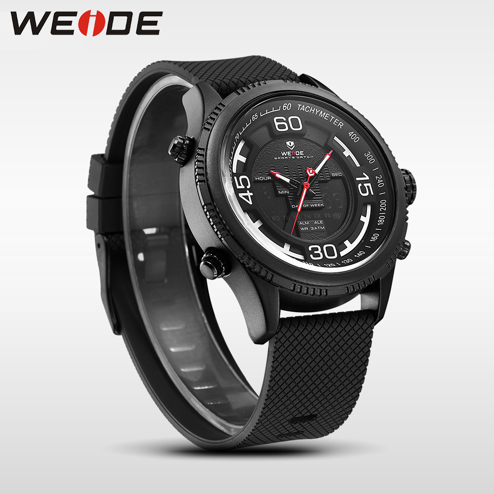 watch quartz weide men red movements band lcd wrist digital watches stainless s sports steel man