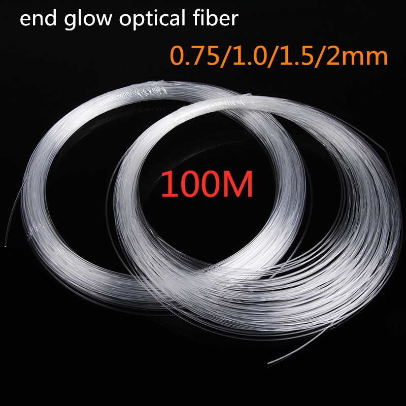PMMA Clear Fiber Optic Cable End Grow LED Light Guide Kit