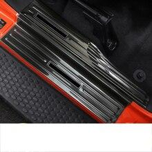 lsrtw2017 titanium black stainless steel car door threshold sill for jeep wrangler jl 2018 2019
