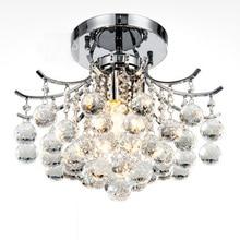 Виноград кристаллы висит Спальня потолочный светильник хром База Гостиная кристалл элегантный Обеденная потолочный светильник
