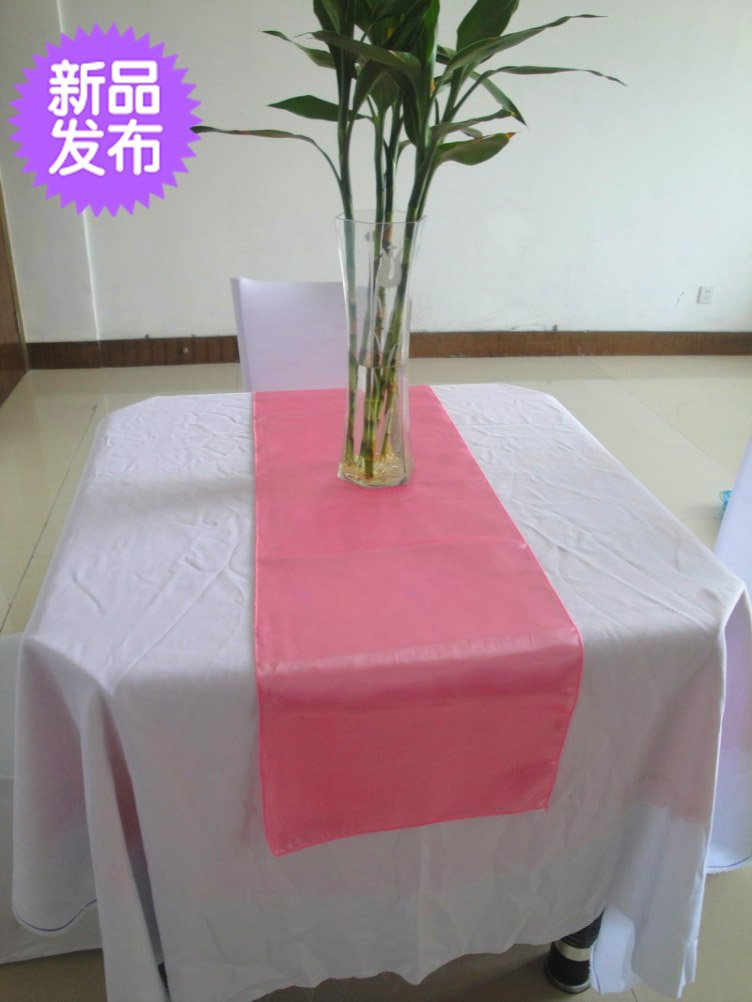 Free shipping Hot Pink Table runner Satin Wedding Party 12 ...